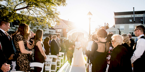 Outdoor Wedding - Salem Waterfront Hotel - Salem, MA