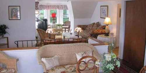 Penthouse Suite Living Area - Harbour Towne Inn - Boothbay Harbor, ME