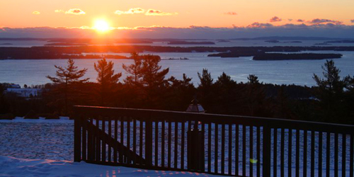 Winter Sunrise - Point Lookout Resort - Northport, ME