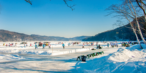 Frozen Lake Fun - Lake Morey Resort - Fairlee, VT