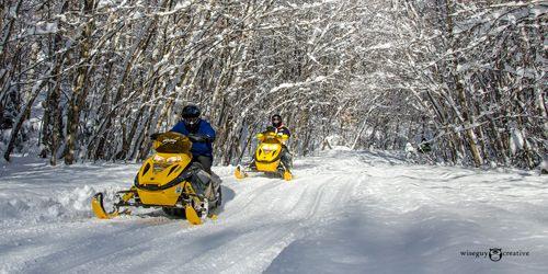 SNOWMOBILING IN New Hampshire