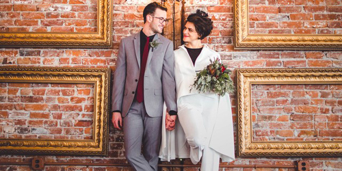 Wedding Couple - Hotel on North - Pittsfield, MA - Photo Credit Sam Smalley