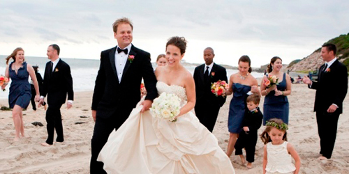 Beach Wedding Party - Ocean House Resort - Watch Hill, RI