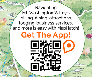 Navigating Mt. Washington Valley's skiing, dining, attractions, lodging, business services, and more is easy with MapHatch! Get the App today!