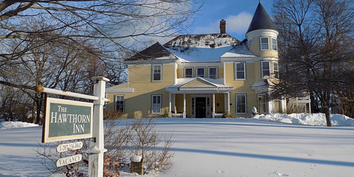 Exterior Winter View - Hawthorn Inn - Camden, ME
