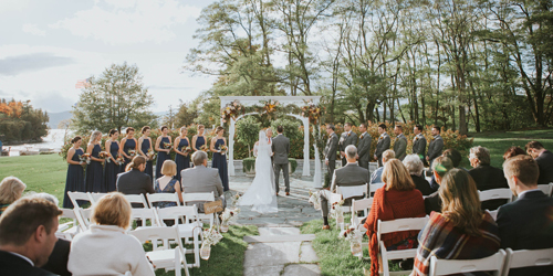 Outdoor Wedding Ceremony - Basin Harbor - Vergennes, VT