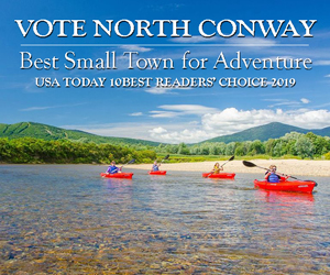 Vote North Conway for best small town for adventure in USA Today's 10-best readers choice poll 2019! Click here to cast your ballot.