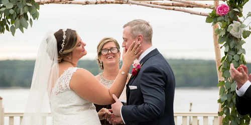 Waterfront Wedding Ceremony - Spruce Point Inn - Boothbay Harbor, ME