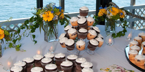 Wedding Cupcakes - Boothbay Harbor Inn - Boothbay Harbor, ME