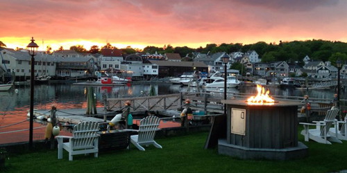 Fiery Sunset View - Boothbay Harbor Inn - Boothbay Harbor, ME