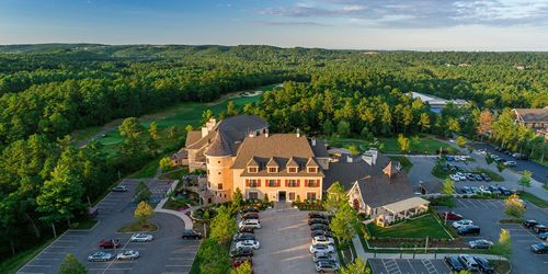 Resort & Golf Course Aerial View - Mirbeau Inn & Spa - Plymouth, MA