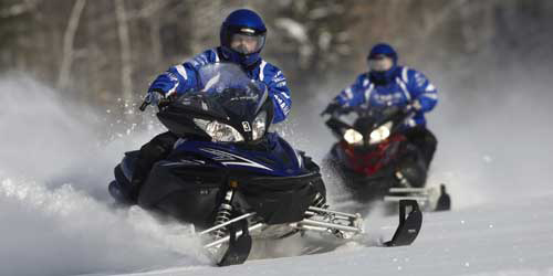Winter in New England - Snowmobiling in Northern Maine