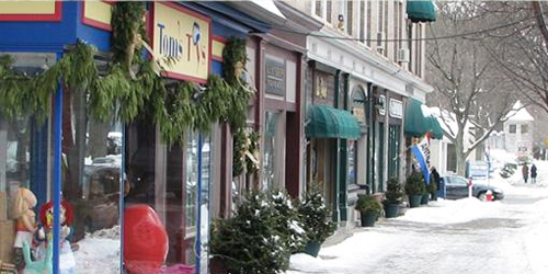 Winter in New England - Downtown Great Barrington, Massachusetts - Photo Credit Berkshires Visitors Bureau