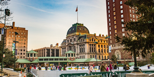 Winter in New England - Ice Skating in Downtown Providence, Rhode Island - Photo Credit N. Millard & GoProvidence