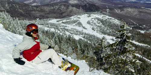Winter in New England - Vermont Snowboarding - Photo Credit VT Tourism