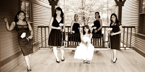 BW Bride & Bridesmaids - Porches Inn - North Adams, MA