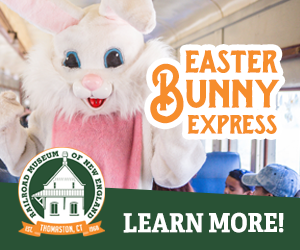 Railroad Museum of New England - Thomaston, CT - Click here for more info about our Easter Bunny Express Train Rides!