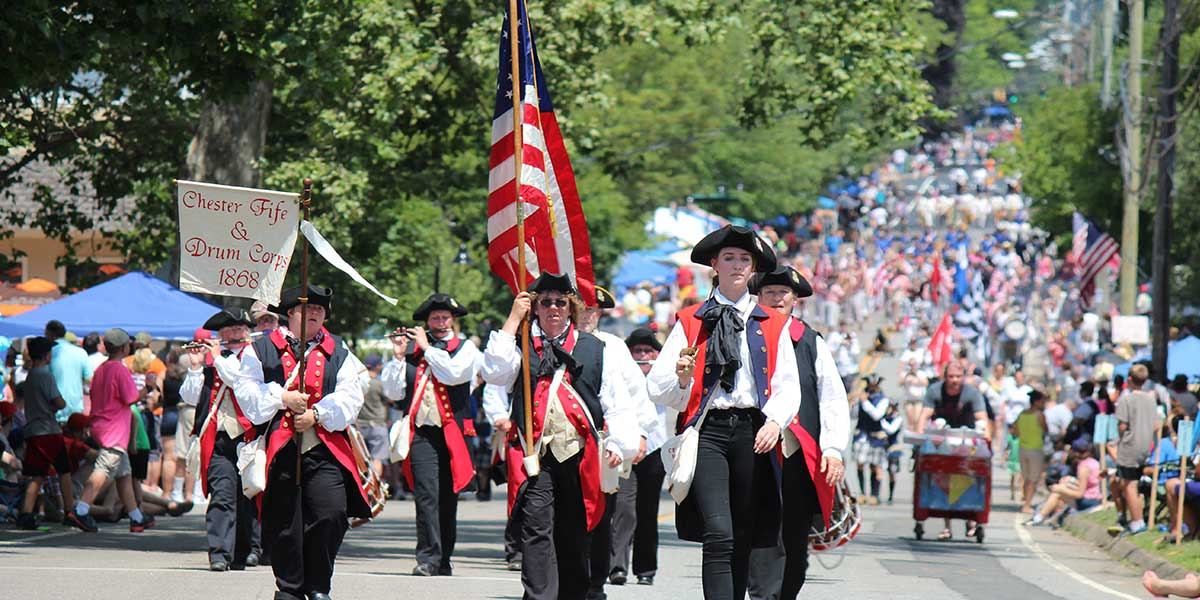 Fife & drum muster in Deep River, CT
