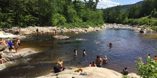 Summer in New England - Mountain Swimming Hole in New Hampshire