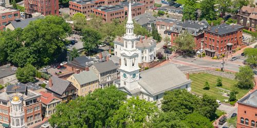 Summer in New England - First Church in Downtown Providence, Rhode Island