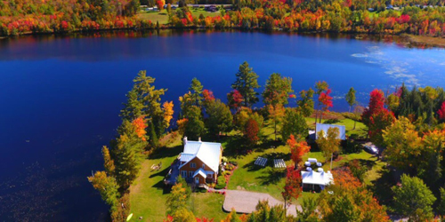 Aerial View - Whitefield Waterfront Home - Whitefield, NH