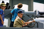 Kid at the Helm - Battleship Cove - Fall River, MA