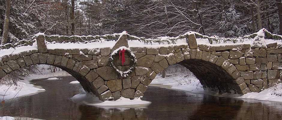 Winter Bridge in New Hampshire