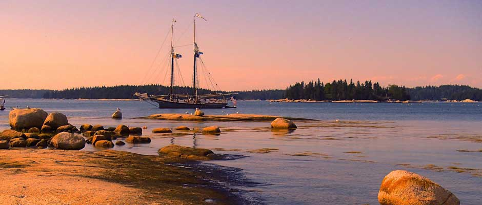 Maine Windjammer at Rest