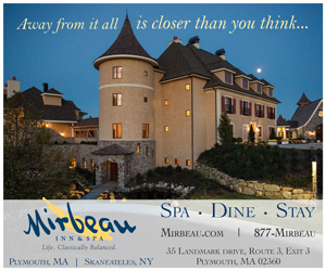 Mirbeau Inn & Spa at Plymouth, MA - Away from it all is closer than you think! Click for more info.