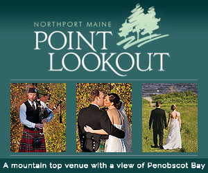 A mountain top venue with a view of Penobscot Bay