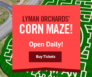 The Corn Maze is now open at Lyman Orchards in Middlefield, CT - Click here for more info.