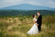 Couple in the Field - Farm Weddings at Monadnock Berries - Troy, NH
