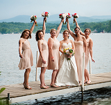 Bridesmaids on the Dock - Anchorage at the Lake - Tilton, NH