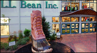 LL Bean in Freeport Maine