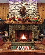Lobby Fireplace - Green Granite Inn & Conference Center - North Conway, NH
