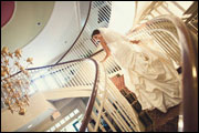 Bride on Staircase - Inn at Middletown - Middletown, CT